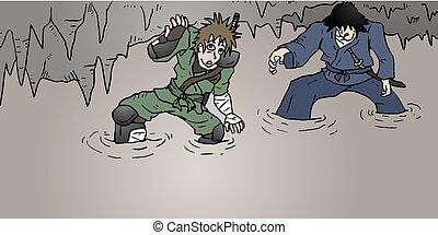 warriors in danger cavern