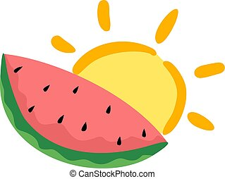 watermelon summer illustration