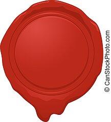wax seal vector design - Creative design of wax seal vector...