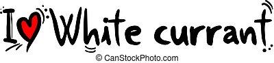 White currant fruit - Creative design of White currant fruit