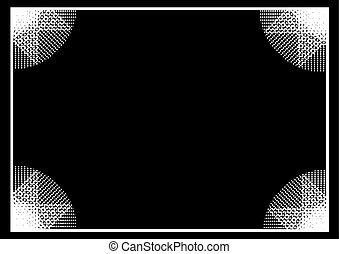 white frame background