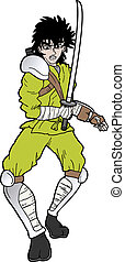 yellow ninja - creative design of yellow ninja