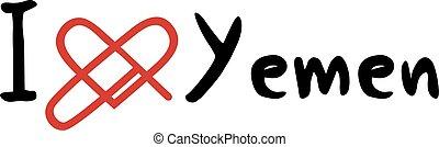 Yemen love message - Creative design of Yemen love message