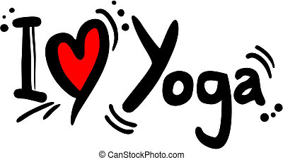 Creative design of yoga love