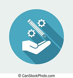 Creative design process icon