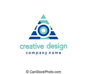 Creative Design. Triangle Logo