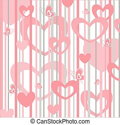 Creative design with hearts and butterfly