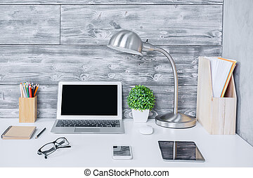 Creative designer workspace closeup