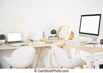 Creative designer workspace