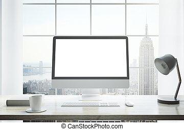 Creative desktop closeup