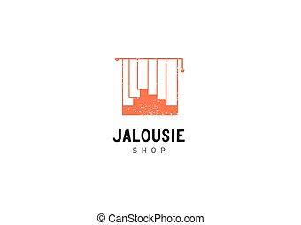 Creative development jalousie shop logo