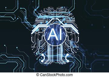 Creative digital AI brain