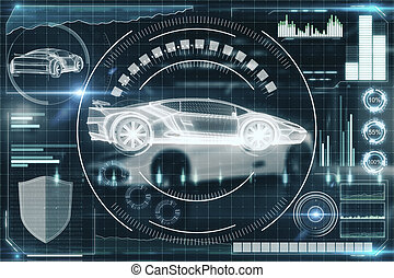 Artificial intelligence, transport and future concept