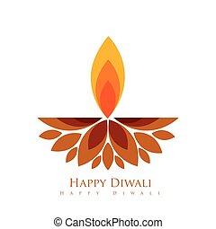 creative diwali diya - vector creative style diwali festival...