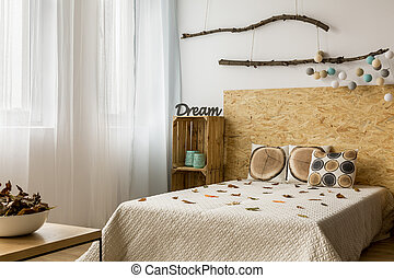 Creative DIY home decor in eco style