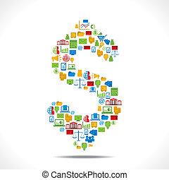 creative dollar symbol design