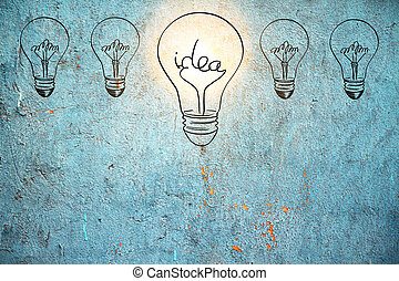 Idea and ambition concept