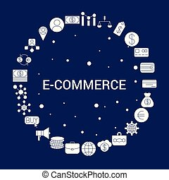 Creative E-Commerce icon Background