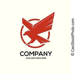 Eagle circle  logo Template