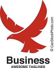 creative eagle fly logo