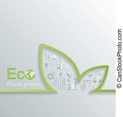 Creative eco concept. - Creative eco concept design Flat...
