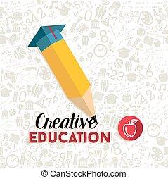 Creative education concept design