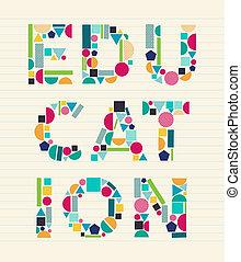 Creative Education concept font