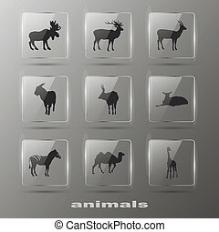 Creative Elements - Animal. Icons set. Eps10