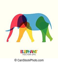 Creative Elephant Animal Design, Vector eps 10