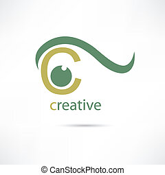 Creative eye icon