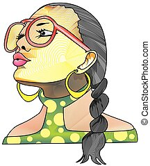 Creative face, illustration - Creative face, woman with...