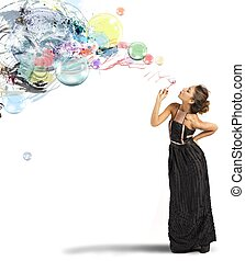Creative fashion with soap ball