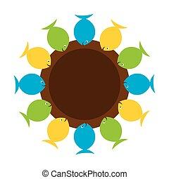 creative fish banner design
