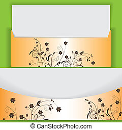 Creative floral design lettes abstract orange brown
