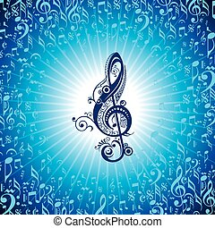 creative floral music icon