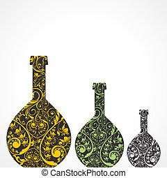 Creative floral wine bottles