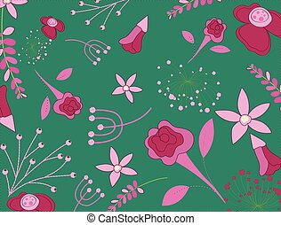 Creative Flowers Background