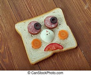 Funny sandwich for kids