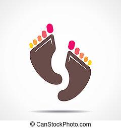creative foot stock vector