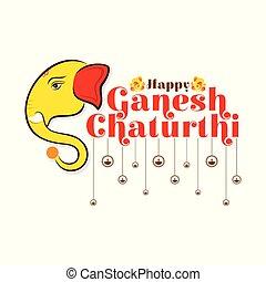 creative ganesh chaturthi festival poster design