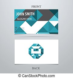 Creative Geometric Business Card Template Letter A Vector Illustration