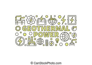 Creative Geothermal Power illustration