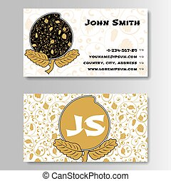Creative Golden Business Visiting Card with Chinese pattern