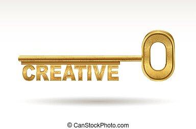 creative - golden key