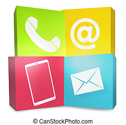 Creative Graphic Color Contact Us Icons