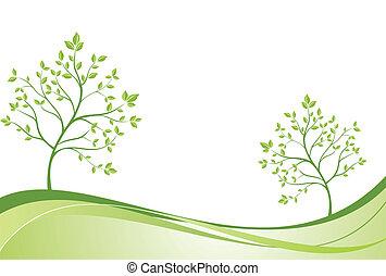 Creative green banner
