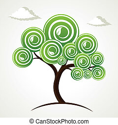 creative green tree