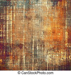 Creative grunge background in vintage style. Faded shabby texture with different color patterns: yellow (beige); brown; gray; red (orange); purple (violet); cyan