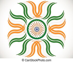 Creative grungy Indian flag design for Indian Republic day and Independence Day. Vector illustration