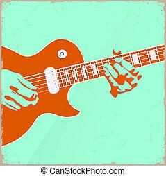 Creative guitar player - Creative guitar player. Vector...